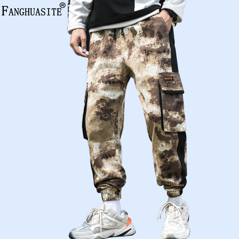 Brand Men's Camouflage Pants Jogging High Quality Cotton Army Casual Pants Big-pocket Hip Hop Fashion Military Cargo Pants A1011