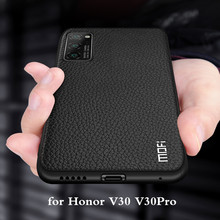 Do obudowy Honor V30 V30Pro do obudowy Huawei V30 Pro MOFi silikonowe szkło odporne na wstrząsy Capa PU Leather Coque