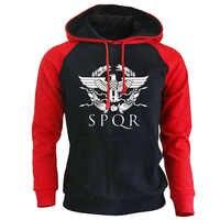 SPQR Römischen Hoodie Männer mit kapuze Sweatshirts Mantel 2019 Herbst Neue Adler Mann Hoodies Sweatshirt Casual Streetwaer Pullover Tops