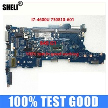CPU Laptop Motherboard Notebook SHELI I7-4600U Mainboard 730810-001 for HP 840/g1 6050a2560201-mb-a02/I7-4600u/Cpu/..