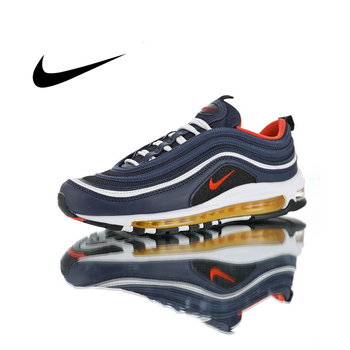 original new arrival authentic nike air max 97 ultra 17 mens running shoes sneakers good quality sport outdoor breathable Original Nike Air Max 97 Midnight Navy Men Running Shoes Sneakers Outdoor Breathable Athletic Footwear Good Quality 2019 New