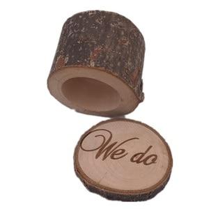 50 шт. деревенская коробка для обручальных колец, мы делаем коробку для колец, Свадебный декор, индивидуальный деревянный держатель для коле...