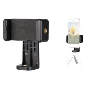 Tripod Mount Adapter Cell Phone Clipper Holder Vertical 360 Tripod Stand for iPhone for Camera Lazy Holder