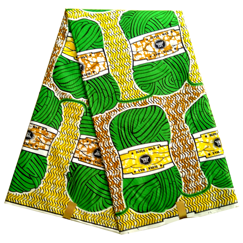 African Wax Fabric African Green Ball Of Yarn Print Fabric Pagne