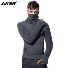 AKSR 2019 Autumn and Winter Mens Turtleneck Sweater Pullovers Loose Thick Warm Men Sueteres Hombre Chompas Para