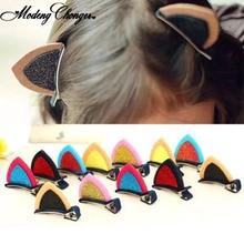1PCS Cute Hair Clips For Girls Hairpins Cat Ear BB Hairgrips Barrettes Cartoon Ornament Kids New Fashion Accessories
