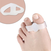 Two-Hole-Toe Separator Hallux Thumb-Valgus-Protector Valgus-Guard Foot-Care Silicone Gel