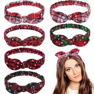 Image 1 - FRIGG Christmas Grid Headband Merry Christmas Decor For Home Christmas Ornament Natal Happy New Year 2021 Xmas Gift Navidad Noel