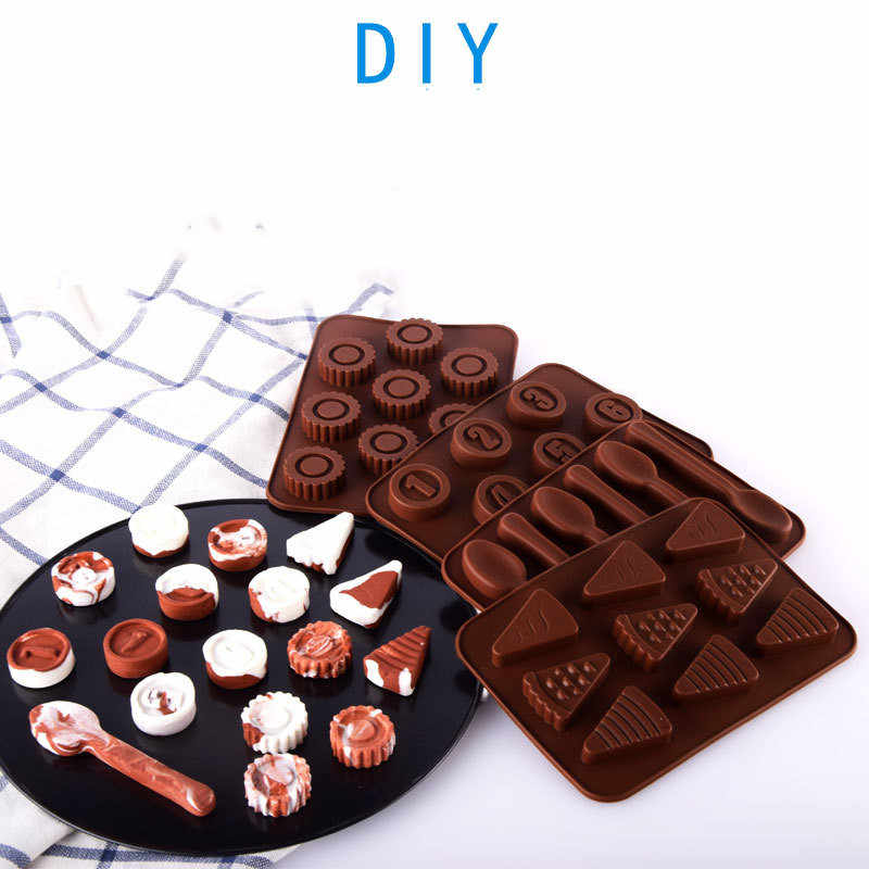 1Pc Siliconen Mini Chocolade Blok Bar Mould Mold Ice Tray Cake Decorating Tool