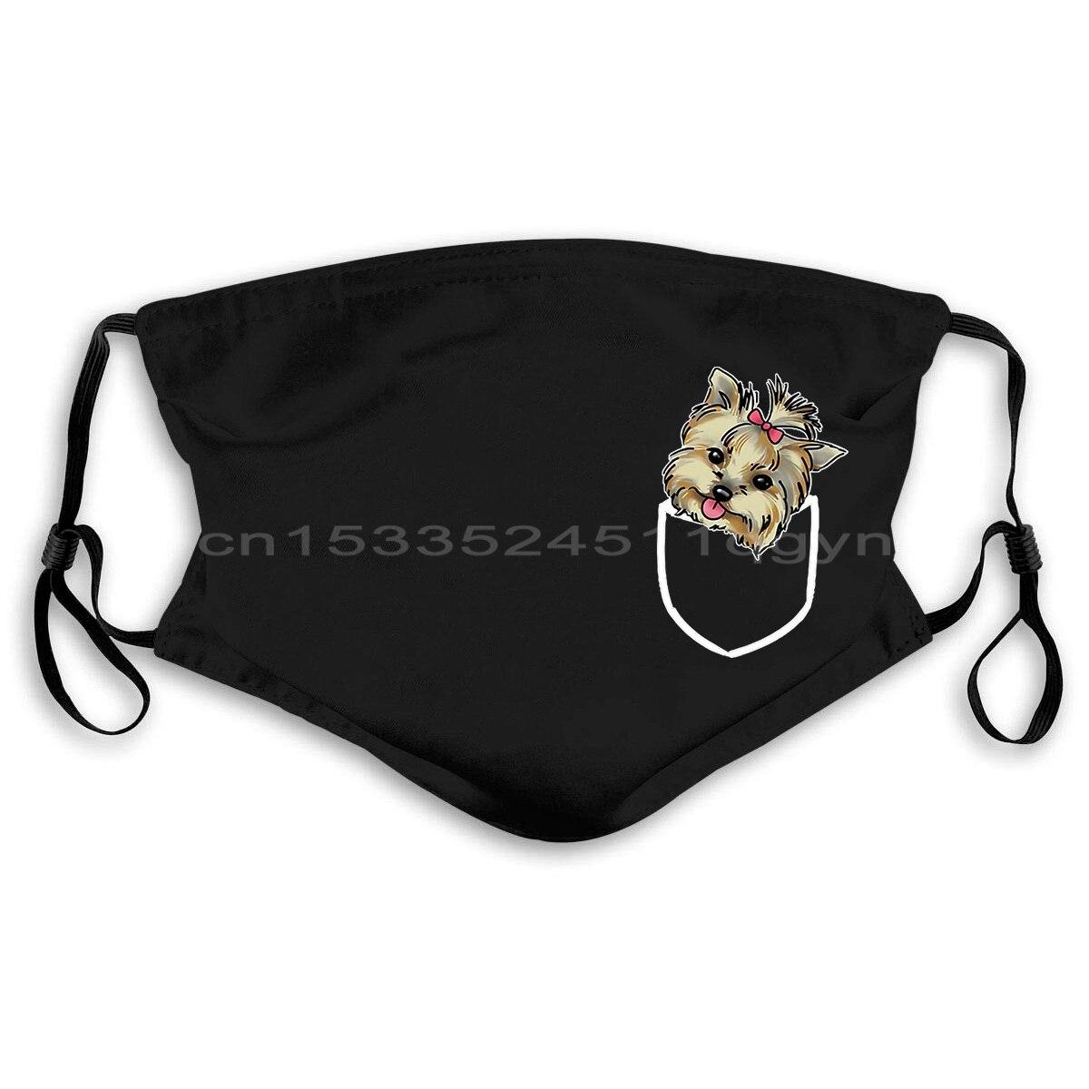 Yorkshire Terrier, máscaras de bolsillo falsas para cachorros, amantes de los animales, bonitas máscaras de perro hermosas, máscara de moda Unisex para hombres y mujeres; FDBRO-mascarilla deportiva para correr, entrenamiento Fitness, gimnasio, elevación de bicicleta, entrenamiento de altura alta, acondicionamiento físico, máscaras deportivas 3,0
