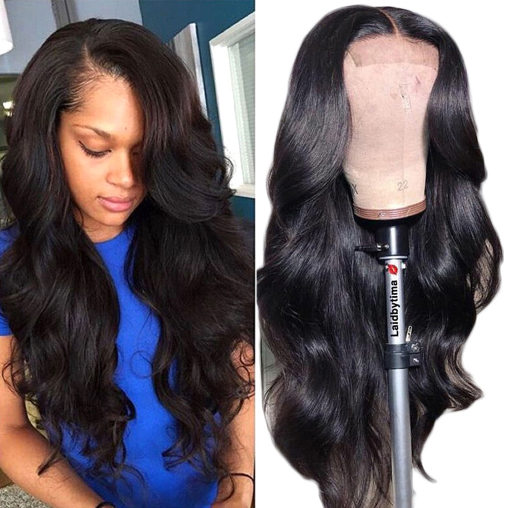 4*4 Lace Closure Wig Body Wave Beaudiva Lace Wig 100% Human Hair Wigs Pre Plucked Baby Hair Brazilian Hair Lace Wig Middle Part