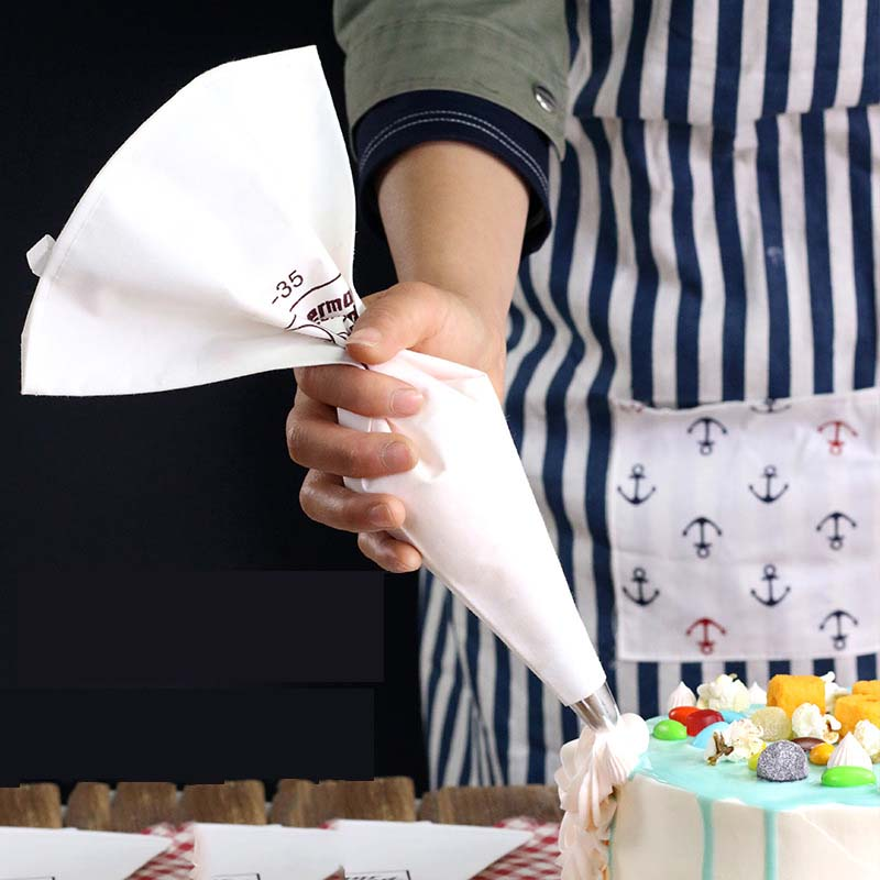 Cream Cake Pastry Bag Re-useable Cotton Cloth Cake Cream Decorating Bag Fondant Cake Decorating Pastry Tips Tools