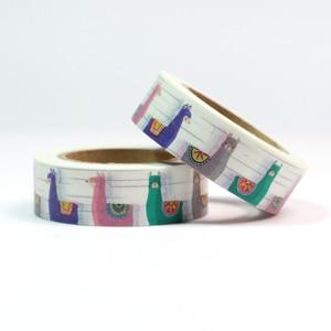 Image 3 - 22 Top sales  elephant, cats, fox, birds, rabbits ,Unicorn Washi Tape Excellent Quality Cute Animal Washi Masking Tape 15mm*10m