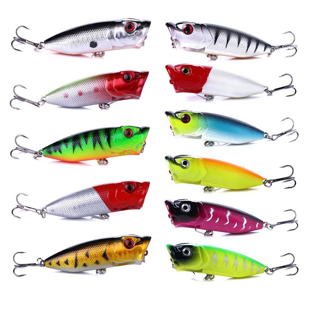 1pcs Popper Wobbler Fishing Lure With 6# Hooks Floating Crankbait Artificial Bait Poper Pesca Carp Pike 6.5cm 12g