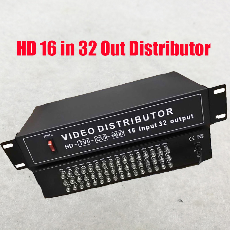 Free Shipping 16 In 32 Out AHD CVI TVI CVBS Video Distributor  16CH To 32CH Splitter For CCTV Security Camera