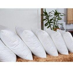 Cabeça branca travesseiro de enchimento para dormir cama dolorida pescoço travesseiro quadrado algodão travesseiro enchimento não tecido do fundamento núcleo almofada interna