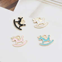 House  Unicorn Animal  Enamel Charms Alloy Pendant Fit for Bracelet Earring DIY  Fashion Jewelry Accessories 12x17mm 5pcs alloy enamel heels hat coat charms with artificial pearl gold tone charm for women earring bracelet jewelry diy accessory