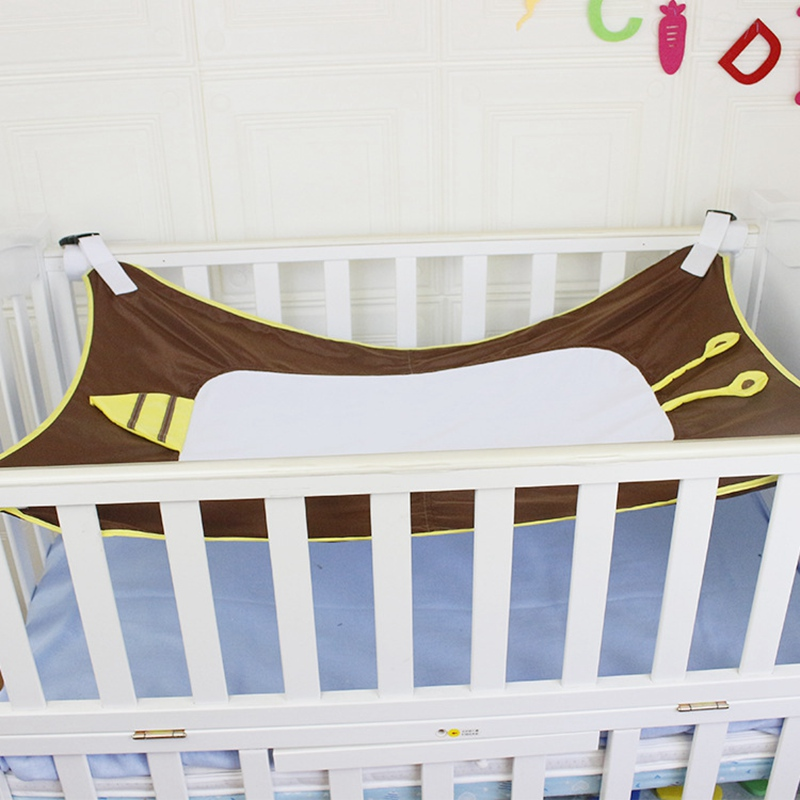 Infant Baby Hammock For Newborn Kid Sleeping Bed Safe Detachable Baby Cot Crib Elastic Hammock With Adjustable Net in Baby Cribs from Mother Kids