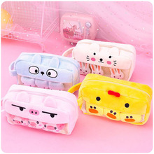 Stationery Pouch Pencil-Box School-Supplies Gift Large-Capacity Kids Pen-Bag Toy Pig-Duck