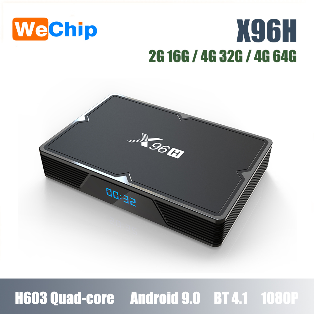 Top-Box Media-Player X96H Android 9.0 Indicator Wifi Quad-Core H603 Bt-4.1 4G 64g-Set