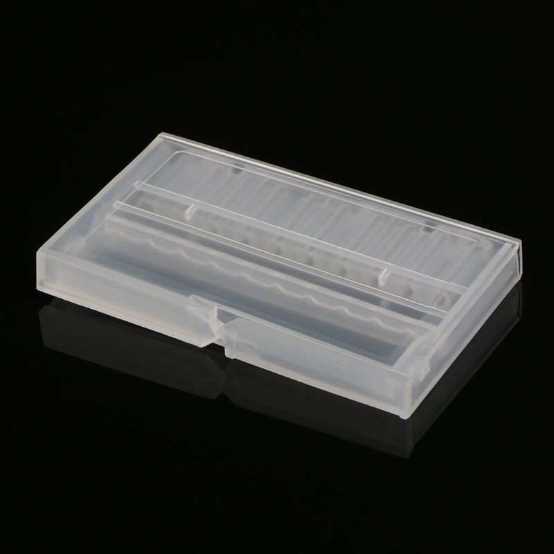 High Quality 10 Holes Nail Drill Bit Case Plastic Empty Storage Box Milling Cutters Holder