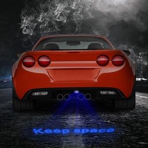 Image 2 - FORAUTO voiture LED lumière de Projection avertissement Laser queue Logo projecteur Auto frein lampe de stationnement arrêt garder espace signe voiture style