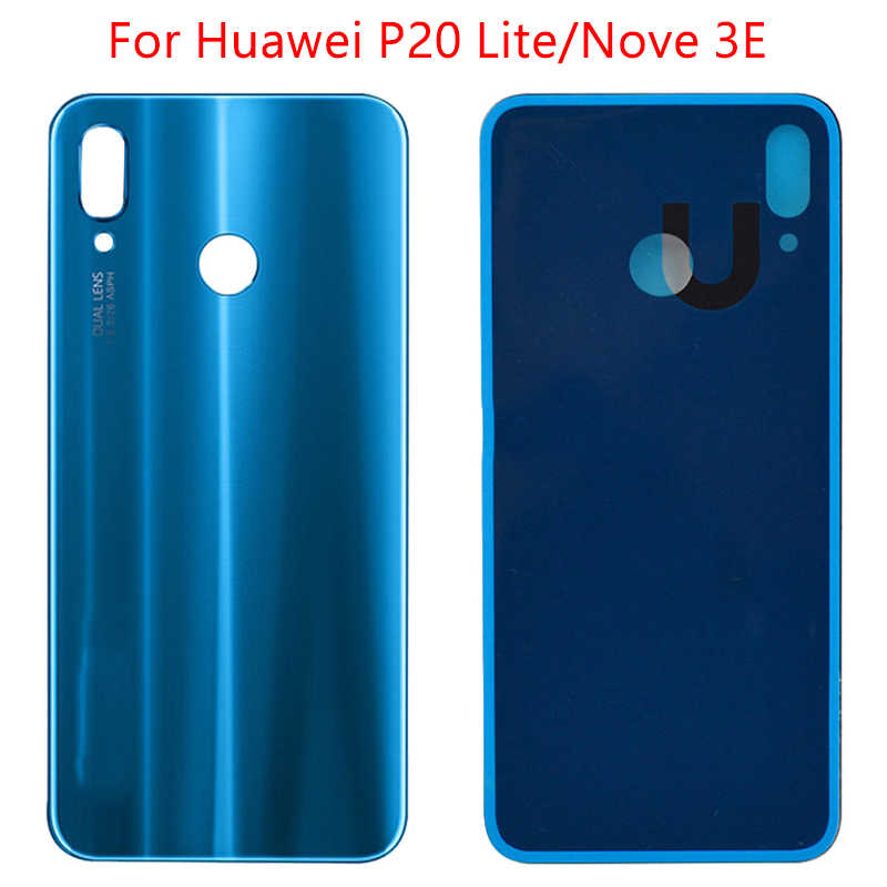 Glass Rear Housing For HUAWEI P20 Lite Battery Cover Replcement For Huawei Nova 3E Back Glass Door Battery Case Adhesive Sticker
