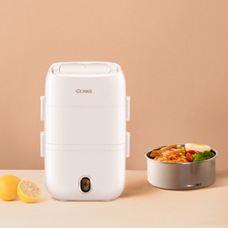 Mini Rice Cooker Electric Lunch Box Food Warmer Heating Insulation Three Floors Negative Pressure Seal Preservation No Soup