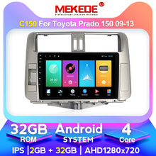 8-Core 4GB RAM 128GB ROM car Radio Player GPS Car Multimedia video player For Toyota Prado 150 2010-2013 Stereo BT5 SWC carplay