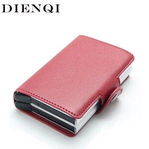 Держатель для банковских кредитных карт DIENQI, женский тонкий мини-кошелек с технологией Rfid, визитница, защита для карт, Обложка для паспорта ...