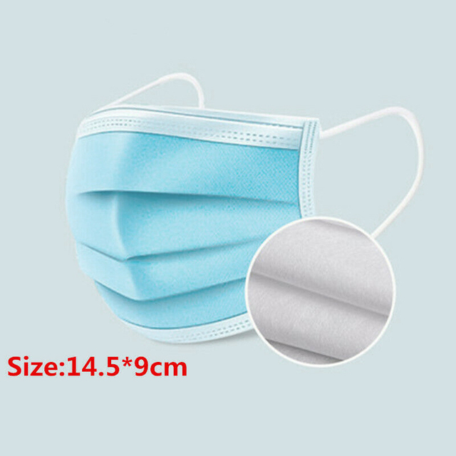 Disposable Mouth Face Mask Anti-Dust 3 Layer Mouth Masks Anti Flu PM2.5 Breathable Masks Face Care Elastic Earloop 2