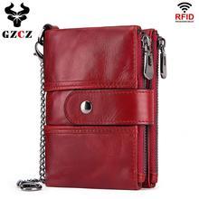 Brieftasche Brieftaschen Frauen 2019 Neue Mode Frauen 100% Echtem Leder dame Rot Walets Für Veranstalter Geldbörse Kupplung Kurze Kleine HEIßER