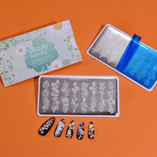 Beautybigbang 6*12 см прямоугольные пластины для стемпинга ногтей