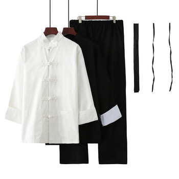 3pcs Chinese Bruce Lee Kung Fu Clothing Set Wing Chun Training Martial Arts Tai Chi Shaolin Wushu Uniform Artes Marciales
