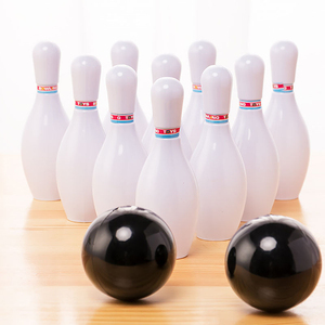1 Set Toddler Kids Bowling Game Set Outdoor Indoor Sports Interaction Leisure Toys Mini Bowling Bottle(China)