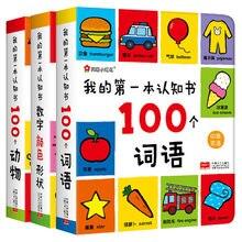Meu primeiro livro cognição 100 palavras inglês chinês bilíngüe crianças bebê cedo educacional libros livros arte libro
