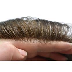 Invisible hombre de reemplazo de cabello Ultra delgada piel lazo peluca Poly PU sistema de atado a mano del pelo humano de Remy hombres pelucas