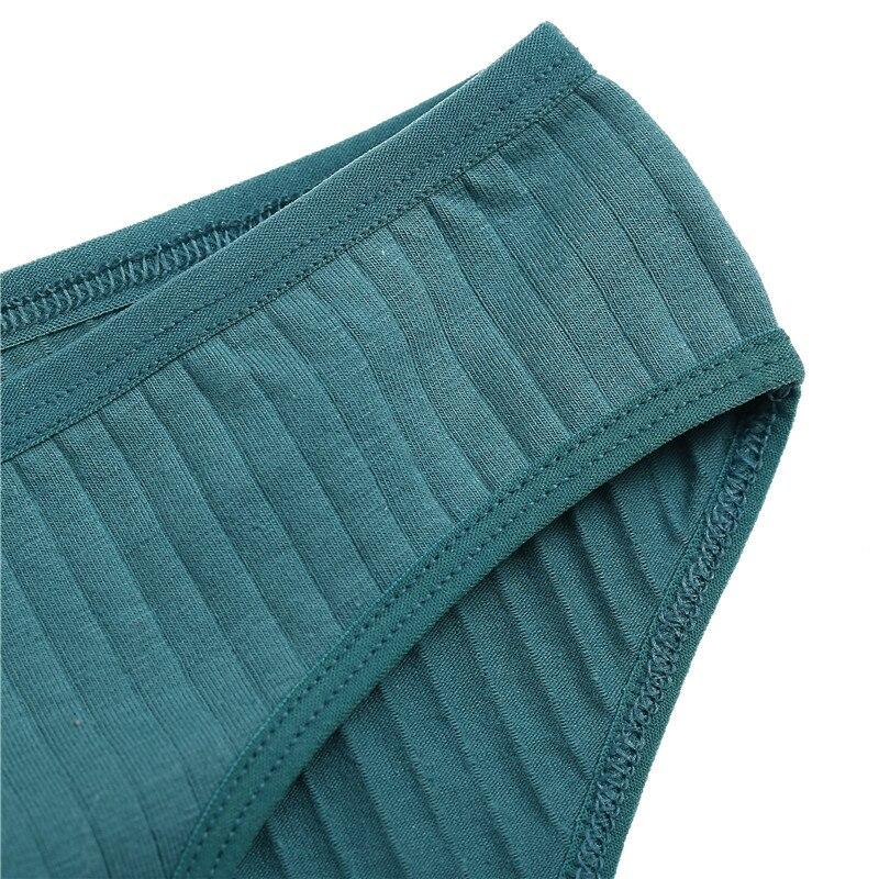 Hbb20b84da31745a0a0a5a7856f9b310bL Ropa interior de algodón suave para mujer, calzoncillos de colores sólidos a rayas, lencería Sexy para mujer, M-XL íntima