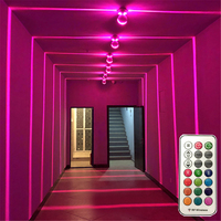 BEIAIDI RGB LED Window Sill Door Frame Wall lamp With Remote Villa Hotel Corridor Aisle Beam Ray Line Wall Light Decor Light