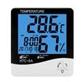 ЖК-цифровой измеритель температуры и влажности комнатный гигрометр термометр метеостанция с датой времени будильник ночник C/F