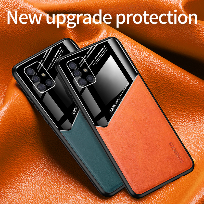 Magnetic Car Phone Case For Samsung Galaxy A51 A71 A41 A81 A50s A70 A10s M60s A20s S10 Note10 Plus Luxury Business leather cover