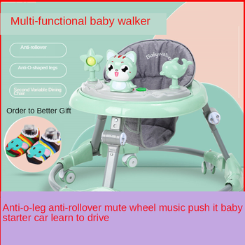 New Baby Walker Multi-function Anti-o-leg Anti-rollover Mute Wheel Music Push It Baby Starter Learn To Drive Walker for Infant new design baby walker multifunctional music plate u type folding easy anti rollover safety scooter baby walkers portable carry