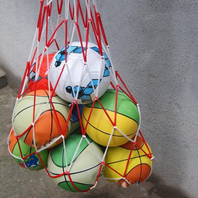 1pcs Outdoor Sporting Soccer Net 10 Balls Carry Net Bag Sports Portable Equipment Basketball Balls Volleyball Ball Net Bag
