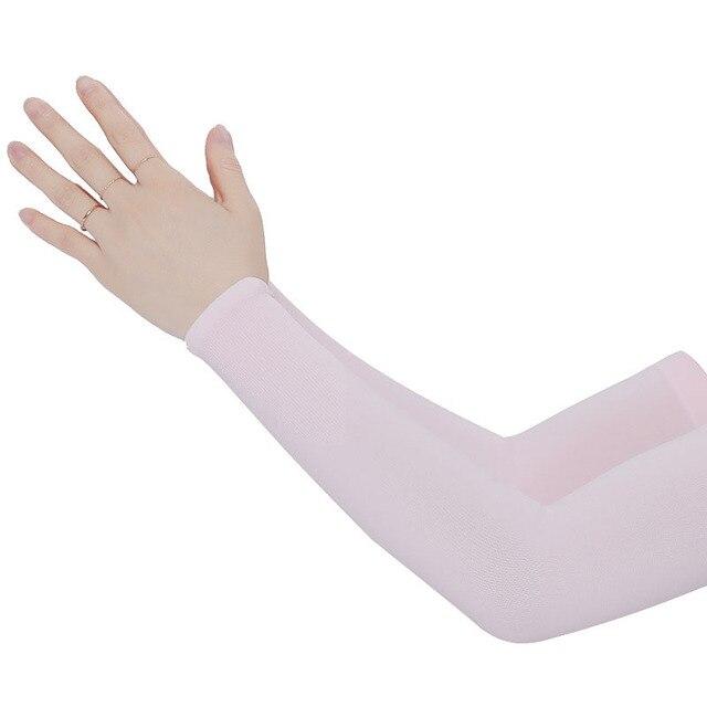 Mangas de braço unissex braço sem dedos manga protetor solar proteção uv gelo legal ciclismo correndo pesca escalada condução braço capa 6