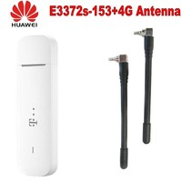 Разблокированный оригинальный HUAWEI E3372 E3372S-153 4G LTE модем 150Mpbs plus с антенной 4g