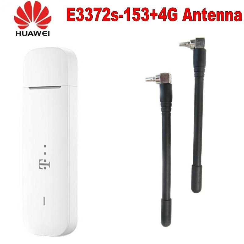 Unlocked Original HUAWEI E3372 E3372S-153 4G LTE Modem 150Mpbs Plus With 4g Antenna
