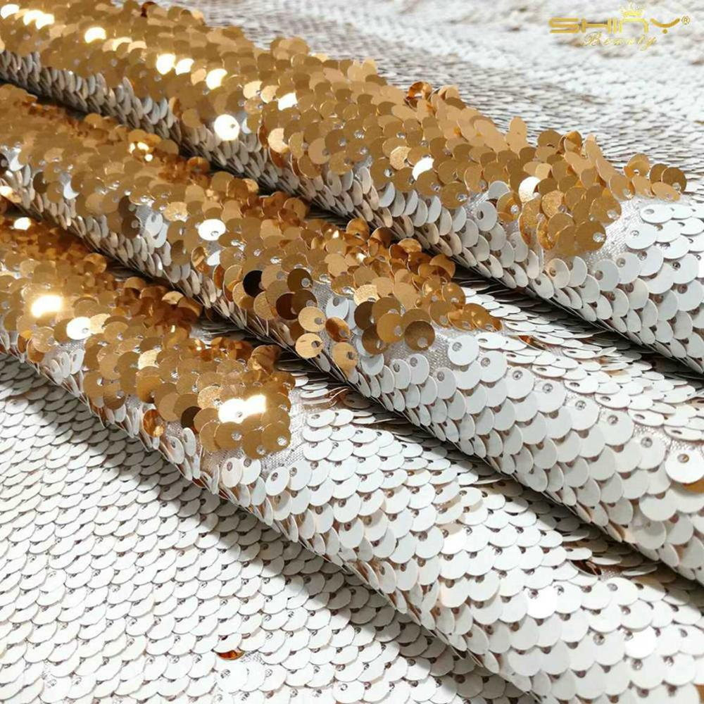 Sequin Fabric White 1 Yard Rose Gold Flippable Sequin Fabric By The Yard Glitz Backdrop 3 Feet Shiny Table Linen Tablecloth