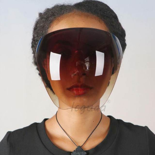 Blocc Protective Face-Shield Full Cover Visor Glasses/Sunglasses Anti-Spray Mask Protective Goggle Glass Sunglasses 2
