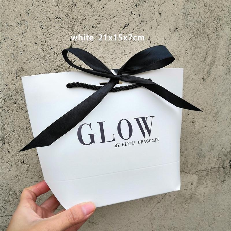 Logo Paper Package 100pcs Gift Boxes Box Kraft Pajamas Bags Gift Gift Clothing Customizable Bag Packaging Wig Bags Wedding