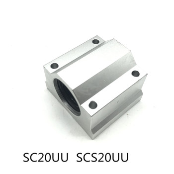 1x SC20UU SCS20UU Linear Ball Bearing 3D Printer ball bearing XYZ Table Motion Bearing Slide CNC Part rodamiento lineal image